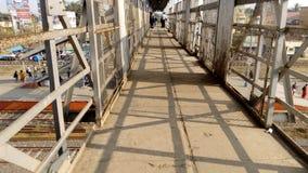 Ferrovia di Kalyani sopra il ponte al kalyani, Nadia, il Bengala Occidentale Fotografie Stock Libere da Diritti