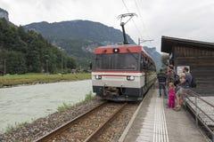 "Ferrovia di Meiringen†""Innertkirchen Fotografia Stock"