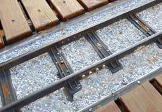 Ferrovia di modello miniatura del treno Fotografia Stock Libera da Diritti