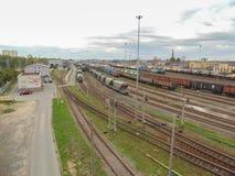 Ferrovia di Pietroburgo Fotografia Stock Libera da Diritti