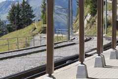 Ferrovia di Schynige Platte Immagine Stock Libera da Diritti