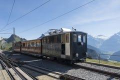 Ferrovia di Schynige Platte Fotografia Stock