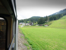 Ferrovia di Zugspitze, Baviera, Germania Fotografie Stock