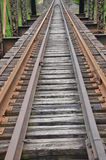 Ferrovia e ponte Fotografie Stock Libere da Diritti