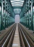 Ferrovia e ponticello Fotografie Stock