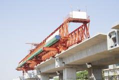 Ferrovia elevado no canteiro de obras Foto de Stock