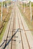 Ferrovia ferroviaria Fotografia Stock Libera da Diritti