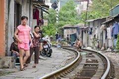 Ferrovia, Hanoi, Vietnam Immagine Stock Libera da Diritti