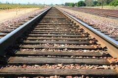 Ferrovia infinita Fotografie Stock Libere da Diritti