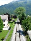 Ferrovia Italia del villaggio di Belluno Fotografia Stock Libera da Diritti