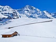 Ferrovia a Jungfraujoch, Svizzera fotografie stock