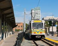 Ferrovia leggera della città Fotografia Stock Libera da Diritti