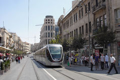 Ferrovia leggera di Gerusalemme Fotografie Stock