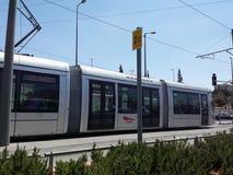 Ferrovia leggera di Gerusalemme Fotografia Stock Libera da Diritti