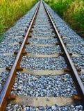 Ferrovia lungamente Immagine Stock