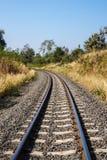 Ferrovia in mezzo della siccità fotografia stock