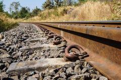 Ferrovia in mezzo della siccità fotografie stock