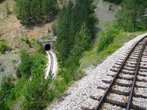 Ferrovia, Mokra Gora, Serbia fotografia stock libera da diritti