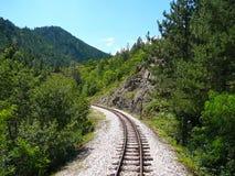Ferrovia, Mokra Gora, Serbia immagine stock libera da diritti