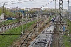 Ferrovia a Mosca Fotografia Stock Libera da Diritti