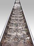 Ferrovia na perspectiva Imagens de Stock Royalty Free