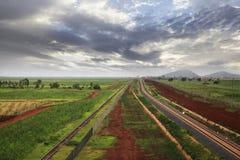 Ferrovia nel Kenya Immagini Stock