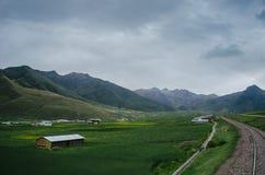 Ferrovia nel Perù immagine stock