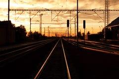 Ferrovia nella repubblica ceca fotografia stock libera da diritti