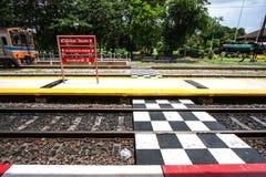 Ferrovia nella stazione Fotografie Stock