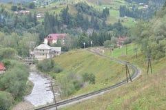 Ferrovia nelle montagne Fotografia Stock Libera da Diritti