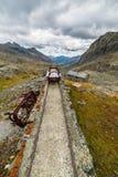 Ferrovia obsoleta nella montagna Fotografia Stock Libera da Diritti