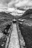Ferrovia obsoleta nella montagna Fotografie Stock Libere da Diritti