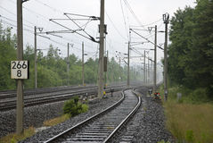 Ferrovia-pista Fotografie Stock Libere da Diritti