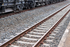 Ferrovia, pista del treno Immagini Stock Libere da Diritti