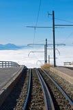 Ferrovia sopra le nubi Fotografia Stock
