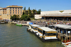 Ferrovia Station in Venice. Image was taken on June 2011 in Venice, Italy Royalty Free Stock Photos