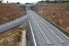 Ferrovia su costruzione Immagini Stock
