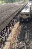 Ferrovia suburbana indiana Fotografia Stock