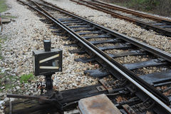 Ferrovia sulla stazione Fotografia Stock