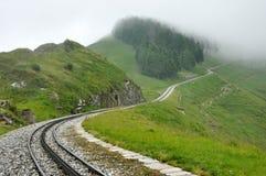 Ferrovia svizzera delle alpi Fotografia Stock