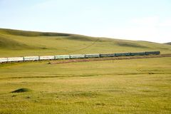 Ferrovia transsiberiana dalla porcellana di Pechino in Mongolia ulaanbaatar Fotografia Stock