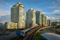 Ferrovia Vancouver del pendolare Fotografie Stock