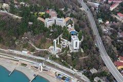 Ferrovie del Russo del sanatorio Fotografia Stock Libera da Diritti