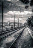 Ferrovie del tram Immagini Stock Libere da Diritti