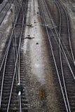 Ferrovie dell'incrocio Immagini Stock Libere da Diritti