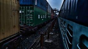 Ferrovie dell'indiano del treno Fotografia Stock Libera da Diritti
