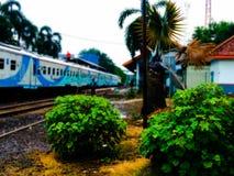 Ferrovie dell'Indonesia Fotografia Stock Libera da Diritti