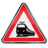 Ferrovie e treni d'avvertimento Immagine Stock Libera da Diritti