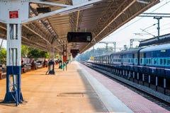 Ferrovie indiane - stazione ferroviaria di Alleppey Fotografia Stock Libera da Diritti