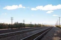 Ferrovie sulla stazione ferroviaria nel deposito di Kelso fotografie stock libere da diritti